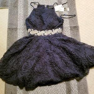 Trixxi Womans Blue Strapless Dress XSmall XS Small